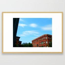 Downtown New Bedford Framed Art Print