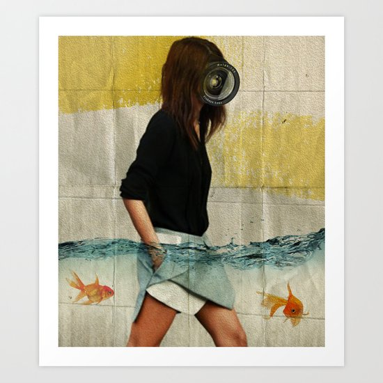 Deep Water Running Art Print