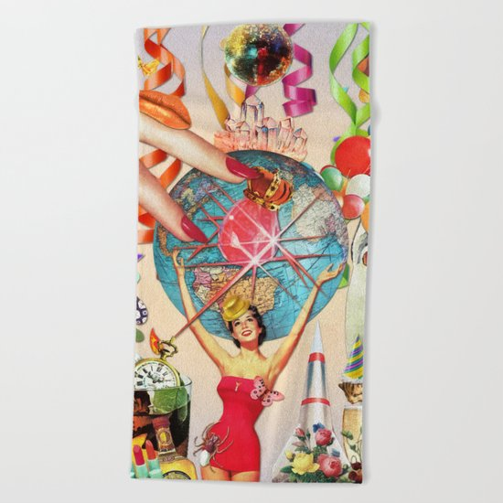 Party Time Beach Towel