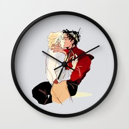 Damen & Laurent veretian outfit Wall Clock