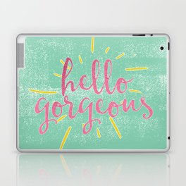 Hello Gorgeous! (mint) Laptop & iPad Skin