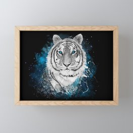 Tiger, don't stop...BE strong Framed Mini Art Print