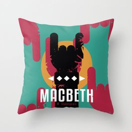 Macbeth by Shakespeare Throw Pillow