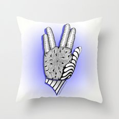 Go Forth and Prosper Zentangle Greeting Throw Pillow