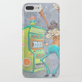 Skinny Pig playing Slot Machine iPhone Case