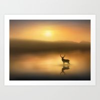 In the Golden Sunrise Art Print