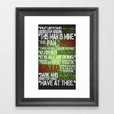 Hook Or Me Framed Art Print