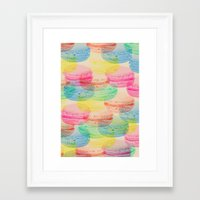macaroon Framed Art Prints featuring Macaroon Madness by Tyler Spangler