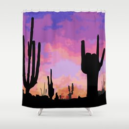 Signs seen in the Desert  Shower Curtain