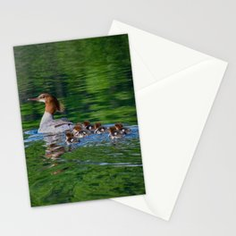 Merganser Duck Family Stationery Cards