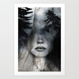 Complete absence of sound Art Print