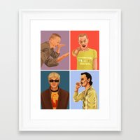 trainspotting Framed Art Prints featuring Trainspotting by David Amblard