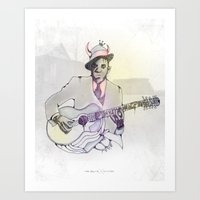 allyson johnson Art Prints featuring Robert Johnson by Melting Sky