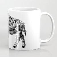 bison Mugs featuring Bison by BIOWORKZ
