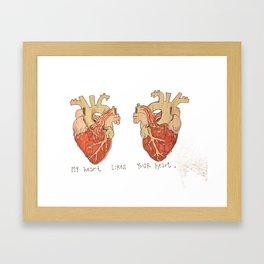 My Heart Likes Your Heart Framed Art Print