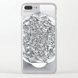 Diamond Rose Clear iPhone Case