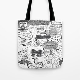 Doodle Page  Tote Bag