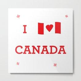 I heart Canada Metal Print