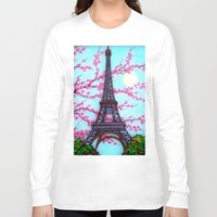 eiffel tower Long Sleeve T-shirts featuring Eiffel Tower by ArtLovePassion