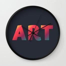 Art, minimalist typography, minimalist illustration, colorful, inspiring wall ar, inspirational word Wall Clock