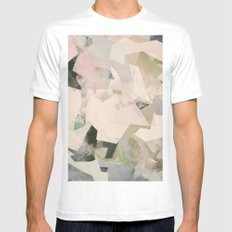 Camouflage LIII White LARGE Mens Fitted Tee