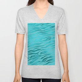 Tiger Ocean Blue Unisex V-Neck