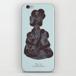 Map of caresses iPhone Skin
