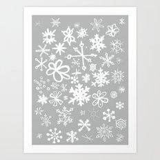 Snowflake Concrete Art Print
