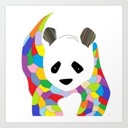 Patchwork Panda Art Print