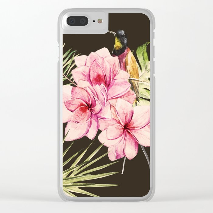 Tropical Bird Pattern 09 Clear iPhone Case