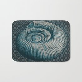 Ammonite on pattern 2201 Bath Mat