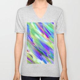 Colorful digital art splashing G401 Unisex V-Neck