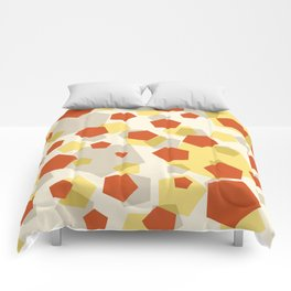 Pentagon yellow red grey Comforters