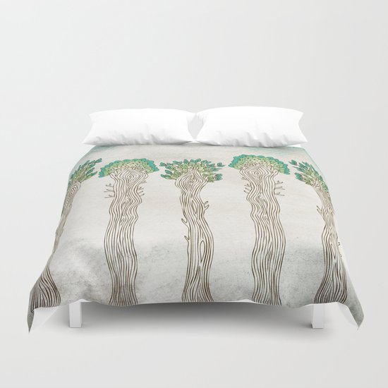 Amazon Trees Duvet Cover