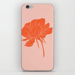 Red-Orange Peony iPhone Skin