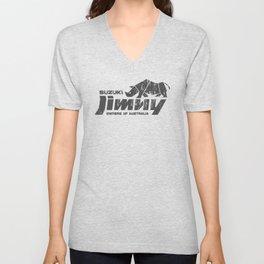 Suzuki Jimny Owners of Australia - Grunge Rhino Mono Unisex V-Neck