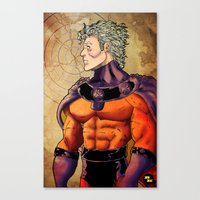 magneto Canvas Prints featuring magneto by Brian Hollins art