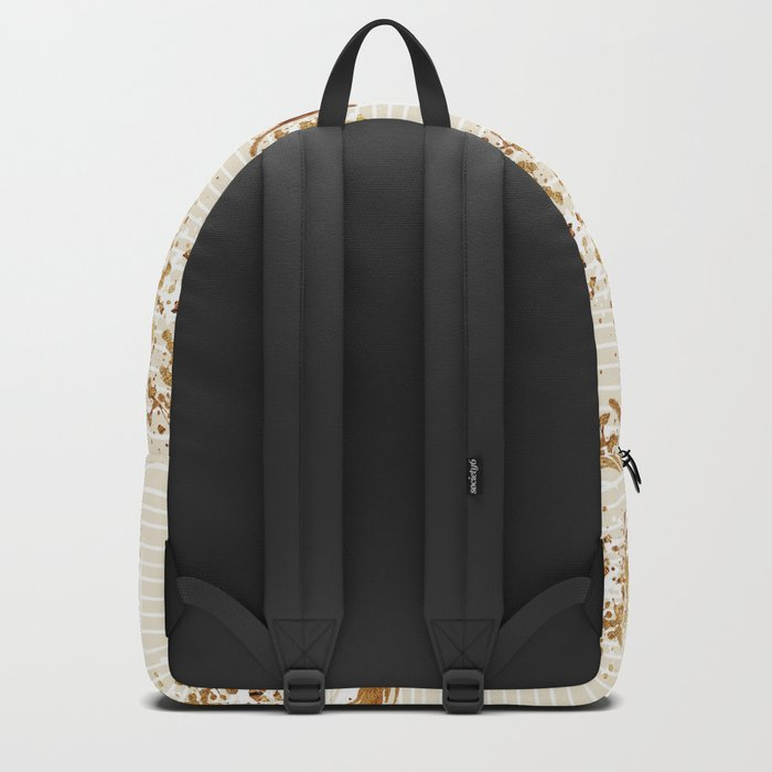 Feather peacock gold #3 Backpack