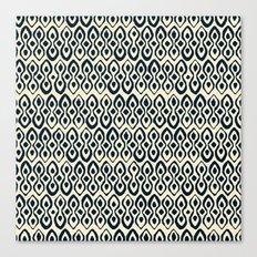brocade indigo ivory Canvas Print