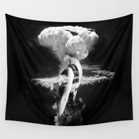 goddess Wall Tapestries featuring War Goddess by Robert Farkas