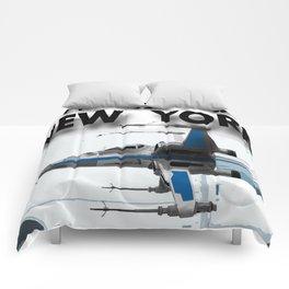 Transit in New york City Comforters