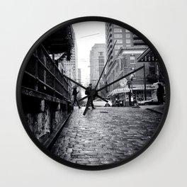Find Love in the Rain Wall Clock