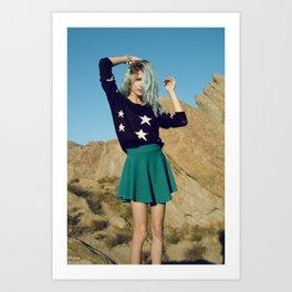 Girl on Mars Art Print