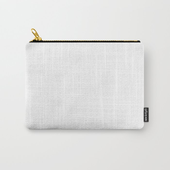 White Minimalist Carry-All Pouch