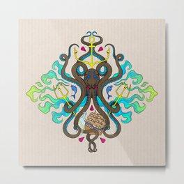 The Kraken // Square Print Metal Print