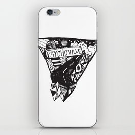 Psychoville black ink drawing iPhone Skin