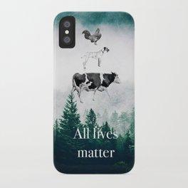All lives matter go vegan iPhone Case