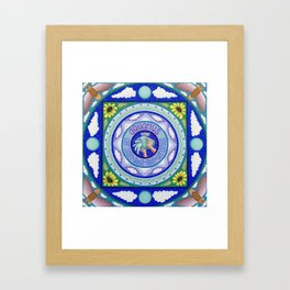 Zodiac Sign of Aquarius Framed Art Print