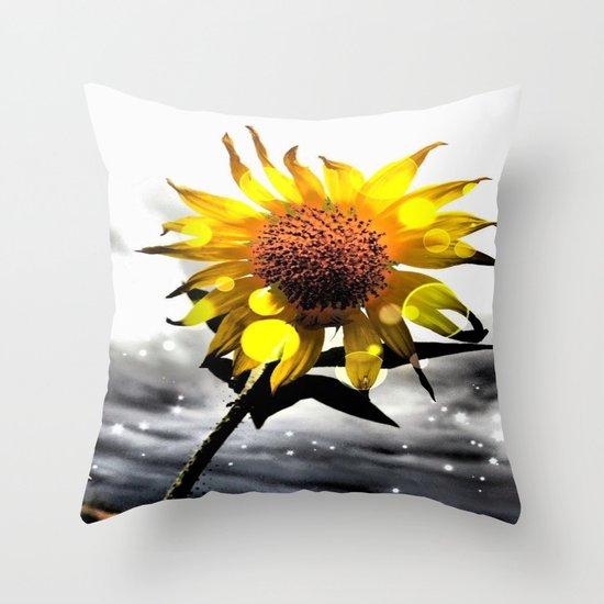 Solar Flower Throw Pillow