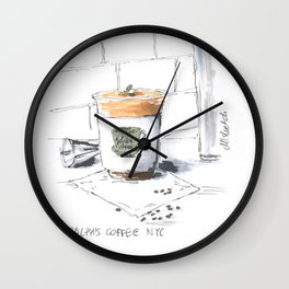 cup of coffee at Ralph's coffee NYC Wall Clock